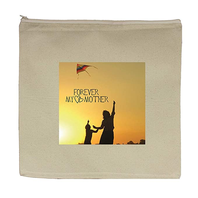 811ea3dc68f2 Amazon.com: Forever Love My Mother Cotton Canvas Zipper Tote Bag ...