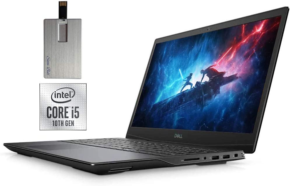 "2020 Dell Gaming G5 15.6"" FHD Laptop Computer, 10th Gen Intel Core i5-10300H, 32GB RAM, 1TB SSD, Backlit Keyboard, GeForce GTX 1660 Ti, Webcam, HDMI, USB-C, Windows 10, Black, 32GB Snow Bell USB Card"