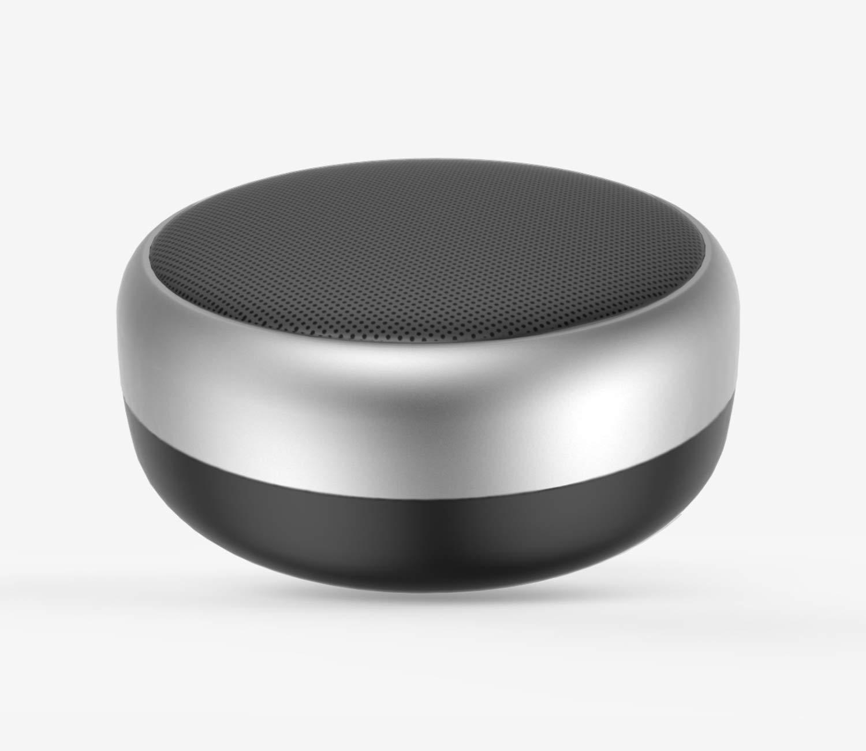 ポータブルBluetoothスピーカー マイク内蔵 ハンズフリー TF再生 低音強化 Bluetooth対応デバイス用チューアワイヤレスステレオ - ブラックシルバー   B07GNHWZPN