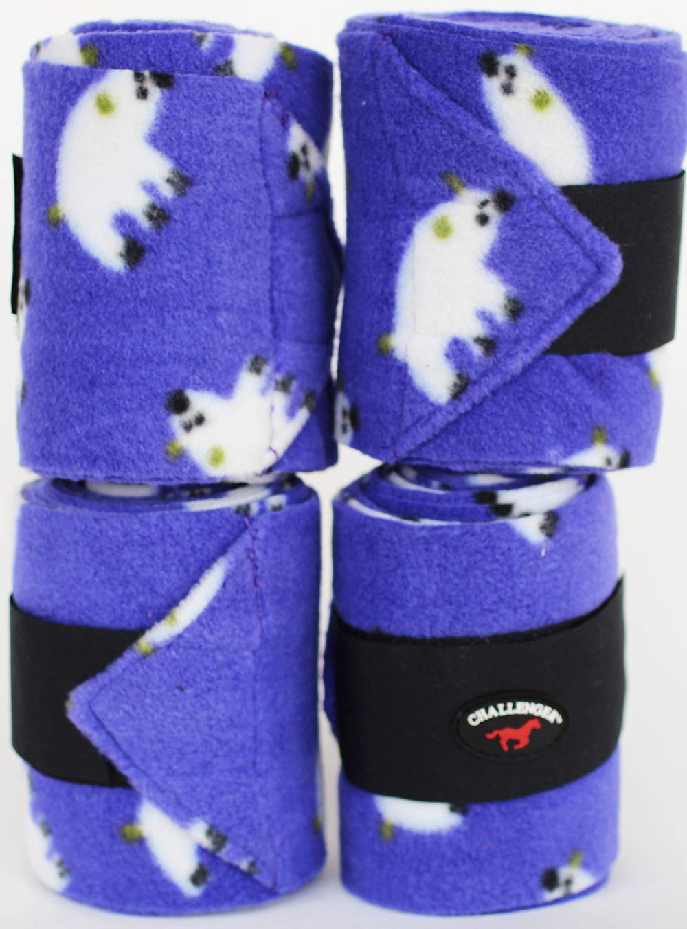 CHALLENGER Horse Tack Grooming Leg Set of 4 Polo Wrap 95R25