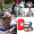 Oziral Camping First Aid Kit 92 Pack Waterproof Portable Emergency Survival Kits for Hiking Car Emergency Hunting Sports Boat