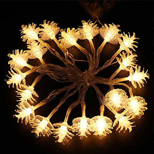 Pine Cone Outdoor Christmas Lights - 8