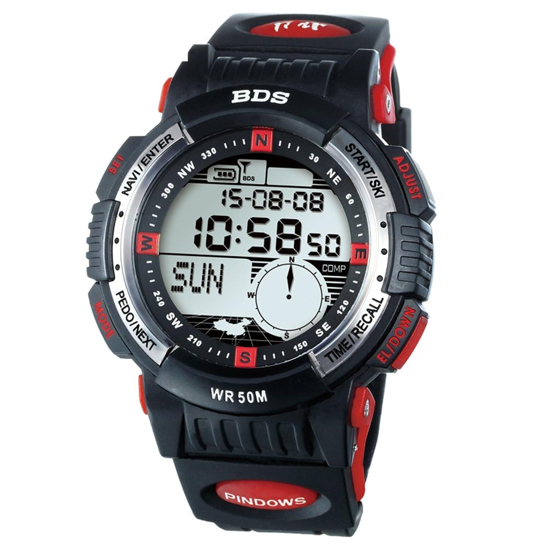 Herren Wandern-Laufen-SchrittzÄhler-Skifahren-Outdoor-Sportarten-Wasserdichte digitale Uhren-D