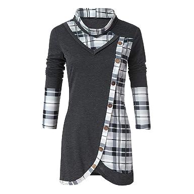 Col Hiver Sweatshirt Manteau Grande Veste Femme Haut Bouton Taille 5XzFxcRq