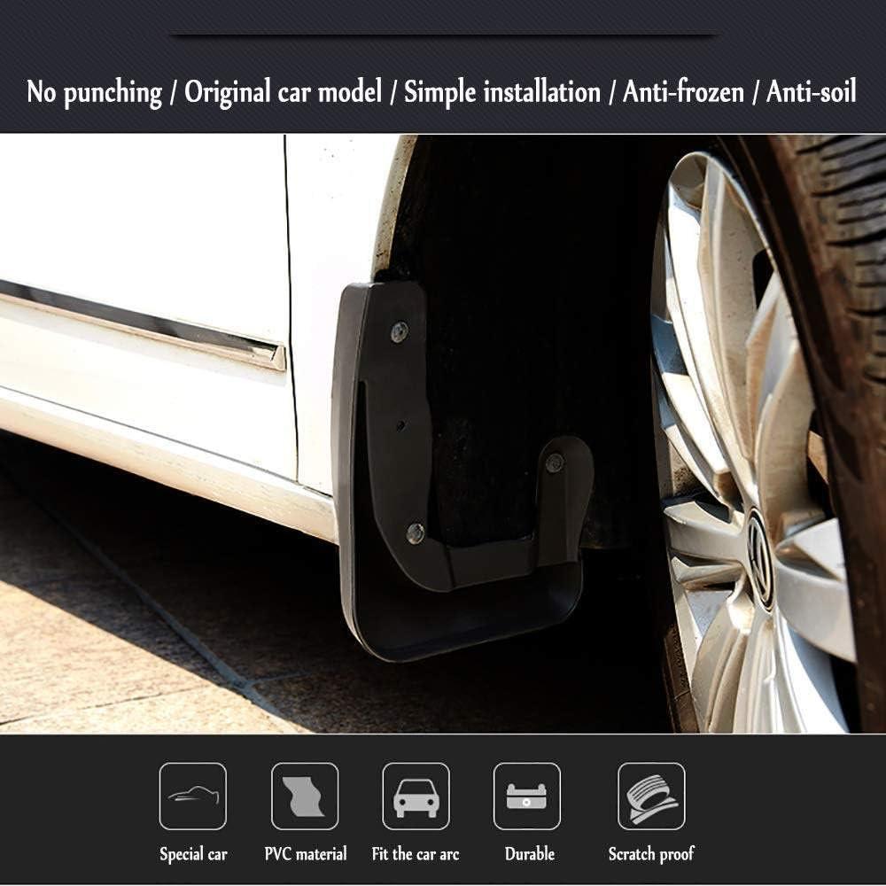 schwarz,V90 Kotfl/ügelstyling /& Karosseriebeschl/äge V90 LDXCT 4tlg Set Schmutzf/änger Spritzschutz vorne /& hinten f/ür Volvo S90