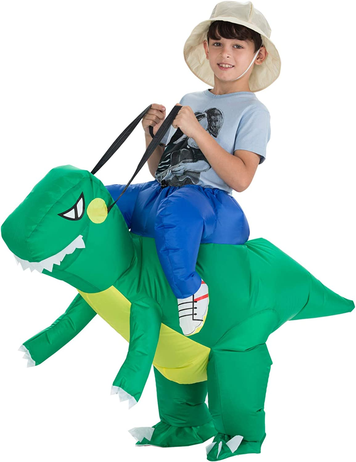 TOLOCO Inflatable Dinosaur T-REX Costume   Inflatable Costumes for Kids  Halloween Costume   Blow Up Costume