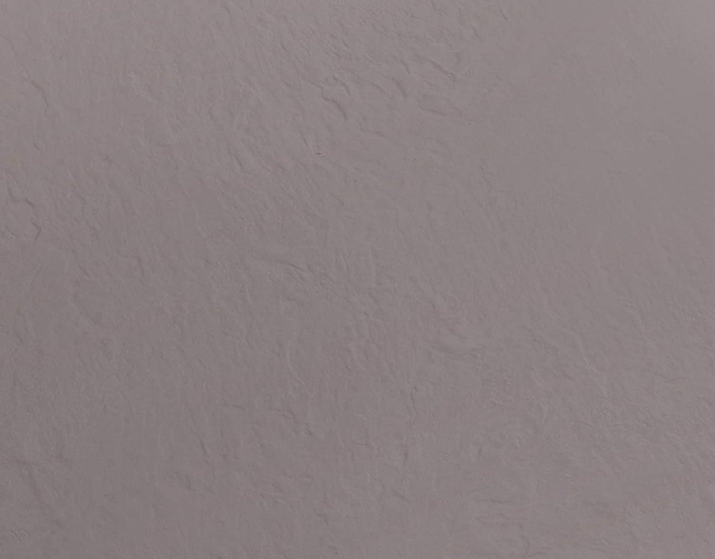 Grille en Acier Inoxydable Receveur de Douche en Pierre marbr/ée avec gelcoat Marin Couleur Gris Froid 70x90 Gris Essence Amalfi Fabriqu/é en Italie