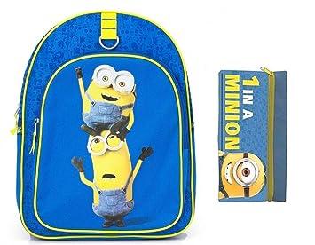 Los minions mochila primario y vivero + 1 estuche los minions: Amazon.es: Equipaje