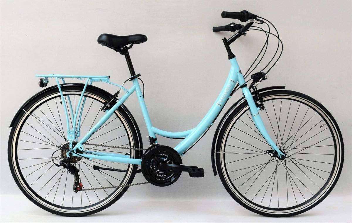 28 Zoll Damen City Fahrrad CITYFAHRRAD DAMENFAHRRAD CITYRAD DAMENRAD Rad Bike Beleuchtung Shimano 18 Gang Balmoral Lady T/ürkis Blau