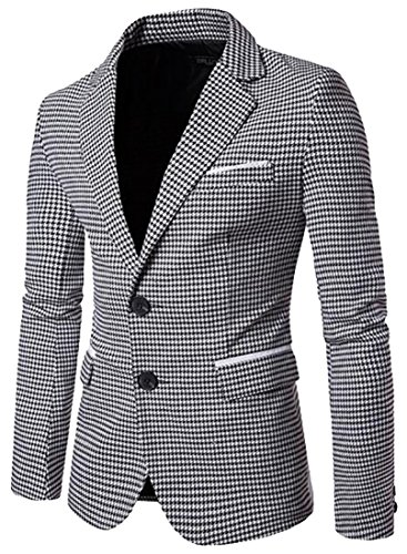 Houndstooth Blazer Jacket - 1