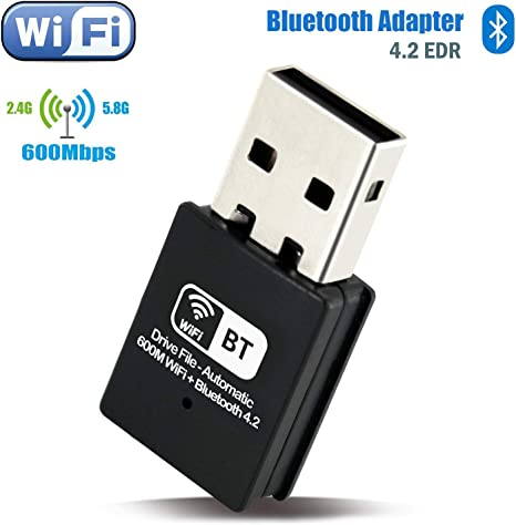 2.4G Mini USB Bluetooth5.0 Wireless Dongle Adapter For Windows 7 8 10 PC Laptop