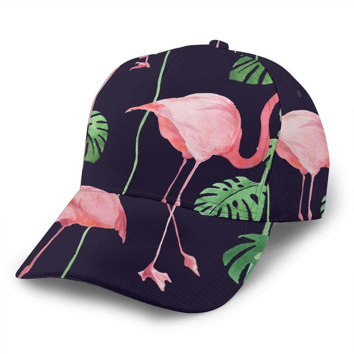 Flamingo Women Vintage Baseball Cap Unisex Adjustable Baseball Hats Dad Hat Black