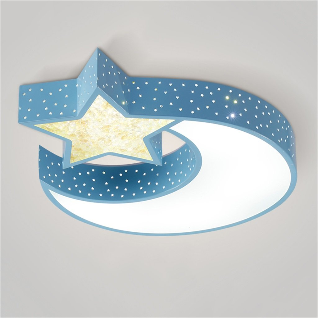 GJ- Kinder Sterne Mond Deckenleuchte LED Starfish Wolken Kinderzimmer Deckenleuchten Schlafzimmer Lichter warm Cartoon kreative PVC drei - Farbe Licht Deckenleuchten ( Farbe : Blau )