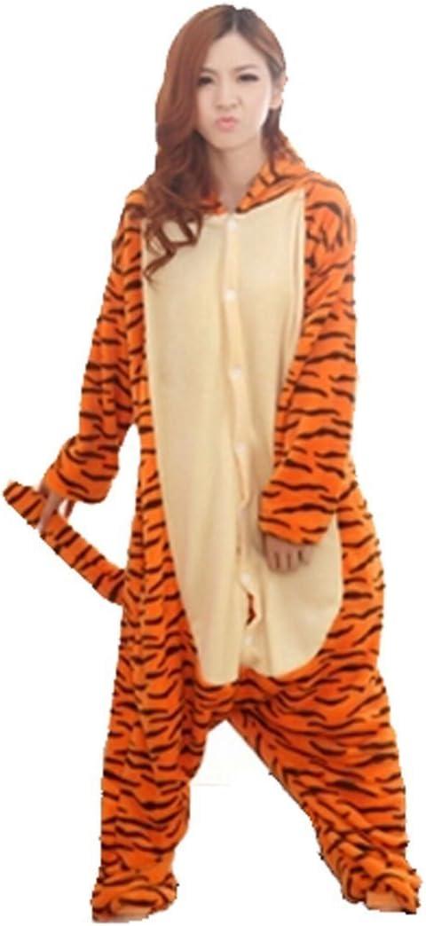 Pijama de una pieza unisex, diseño de Tigger, para invierno, de franela