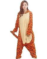 Winter Warm Flannel Onesie Pajamas Adult Unisex One Piece Jumping Tigger Pajama