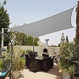 Shade&Beyond 8'x10' Sun Shade Sail Rectangle Canopy Sail Sunshade UV Block for Patio Yard Backyard Grey