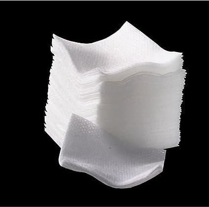 Pads Lint free – Fibra de algodón – Sin restos – 100pz: Amazon.es ...