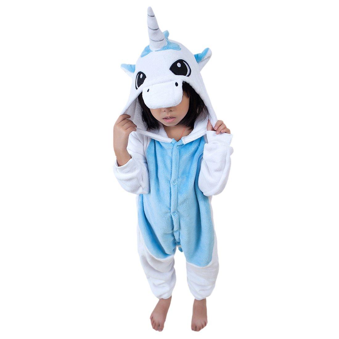 DarkCom Bambini Kigurumi Onesie Pigiama Animale Costumi Cosplay Del Fumetto Tuta Pigiameria Unicorno