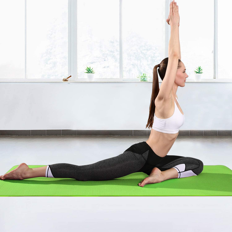 arteesol Yogamatte rutschfest Gymnastikmatte Schadstofffrei TPE D/ünn Yoga Matte Fitnessmatte Trainingsmatte Sportmatte f/ür Yoga Pilates Fitness 183cm x 61cm x 6mm
