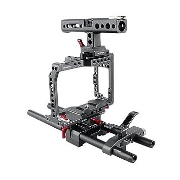 WARAXE Kit de Jaula Profesional para cámara para Sony A7 A7II A7S ...