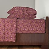 Roostery African 3pc Sheet Set Southern Circles by Robyriker Twin Sheet Set made with