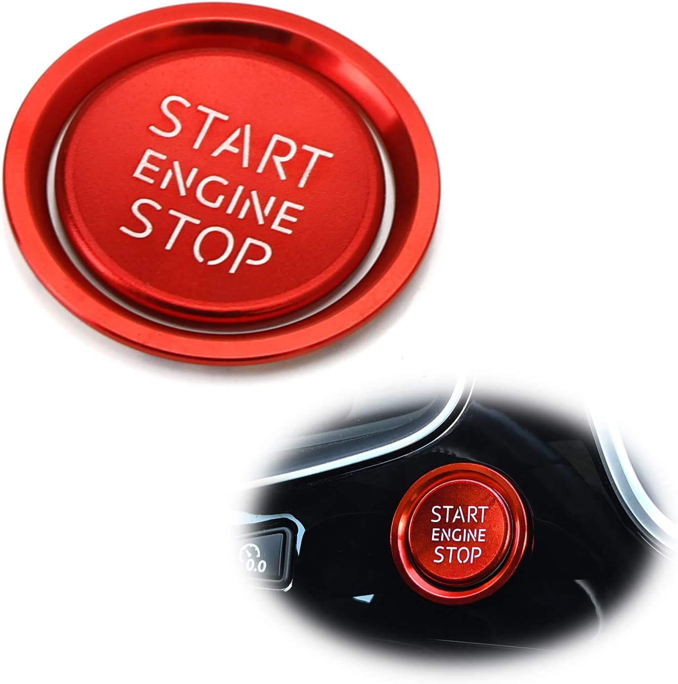 Start Engine Button Decor Ring Trim Aluminum Alloy Fit For Audi A4 A5 A6 Q5 A7