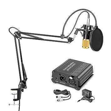 Amazon.com: Neewer Micrófono de condensador y equipo ...