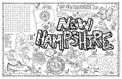 Gallopade Publishing Group New Hampshire Symbols and Facts Fun Sheet - Pack of 30 (9780635064356) - New Hampshire Facts