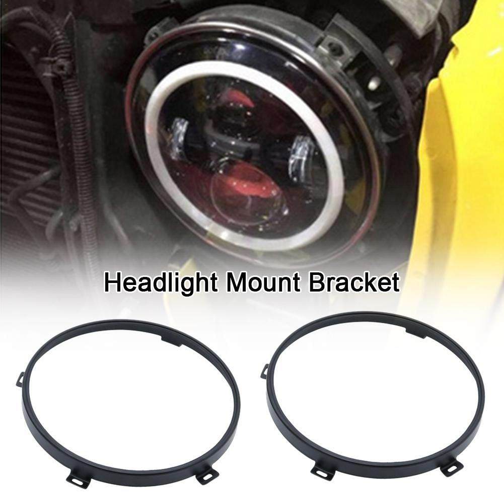 ckground Headlight Bracket For Jeep Wrangler 7in Fixed Light Frame Mount Bracket Modified LED Headlights Mounting Bracket Ring