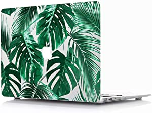 MacBook Air 13 Inch Case 2020 2019 2018 Release A2179 A1932 - AQYLQ Plastic Hard Case Protective Cover for MacBook Air 13 Inch with Retina Display fits Touch ID - Palm Leaves 2