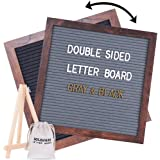 """SOLEJAZZ Felt Letter Board 12""""x12"""" Double Sided , 730 Precut White & Gold Letters, Numbers for Changeable Message Board, Wall"""