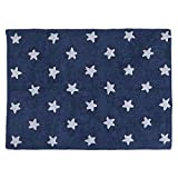 Lorena Canals Stars Machine Washable Kids Rug, 4 x 5 Feet, Handmade From 100% Natural Cotton and Non-Toxic Dyes, Perfect for Nursery, Baby, Playroom, or Childrens Rooms, Works for Outdoor or Beach