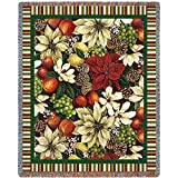 Mother Daughter Woven Throw Blanket with Fringe by Artisan Textile Mill Pure Country Weavers. 100% Cotton USA Size 70x48 Woven to Last A Lifetime