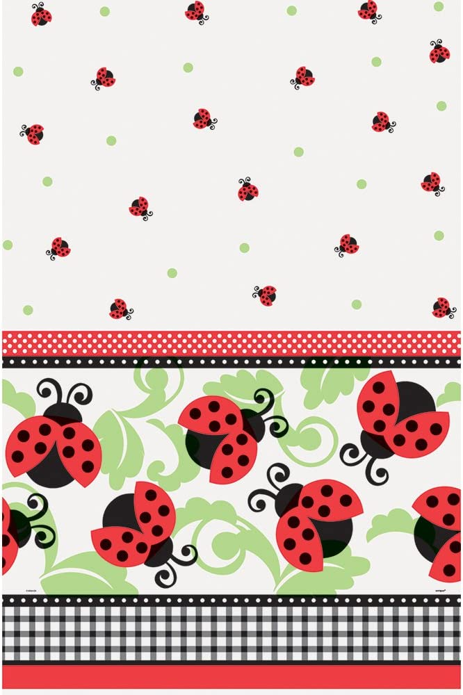 Amazon.com: Ladybug Party Mantel de plástico, 84