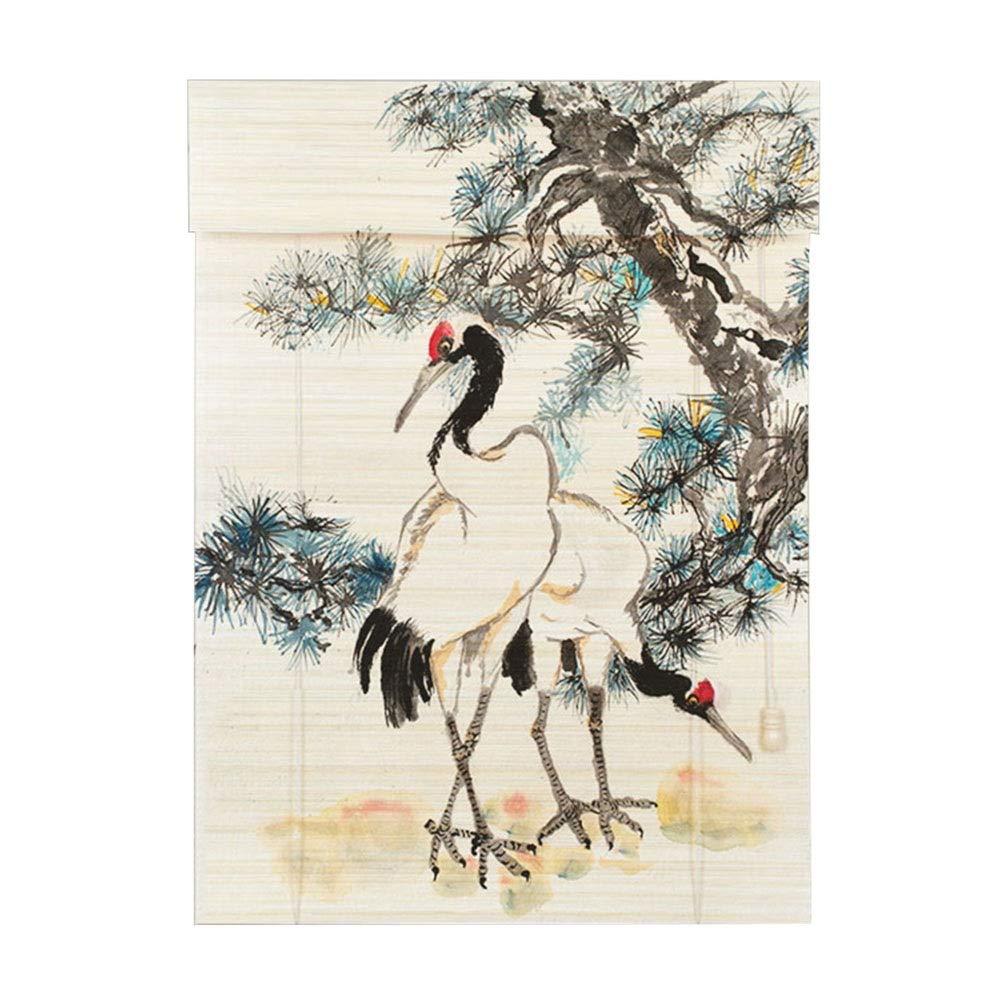ロールブラインド中華風カーテン、居間畳   B07R5S28W6