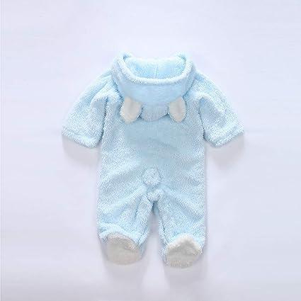 ❤ Felpa con Capucha Mameluco para el bebé de Invierno, bebé recién Nacido niñas niñas Mangas largas Keep Warm Cartoon Mameluco con Capucha Mono Absolute: ...