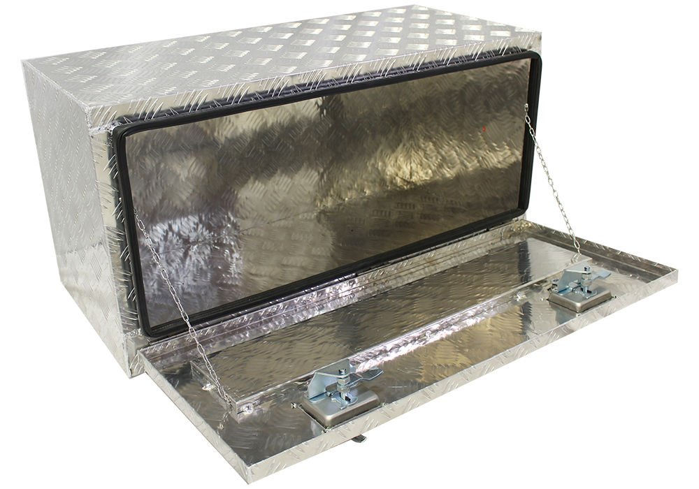 Brait Br18B Aluminum Truck Pickup Underbody Under Bed Tool Box Trailer Bed Rail Storage, 18' L, Black 18 L