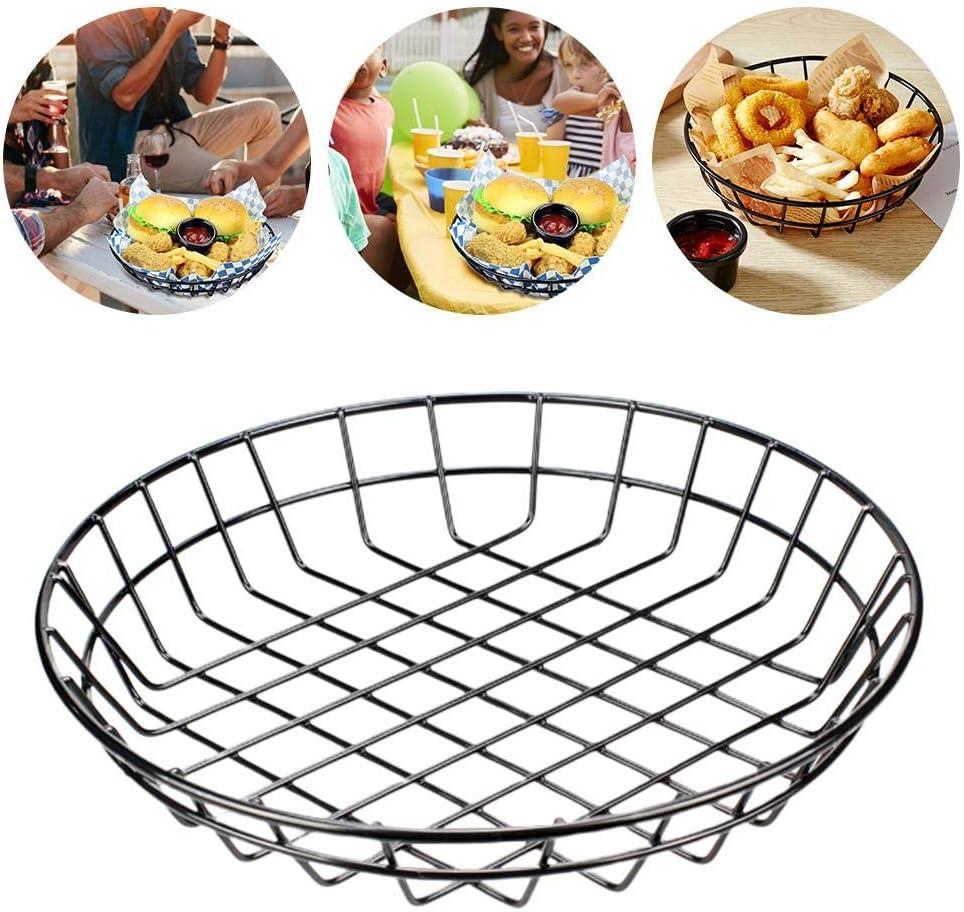 belukies Barril Frito De Hierro Galvanizado Robusto Barril Duradero para Cenas Fiestas Restaurantes