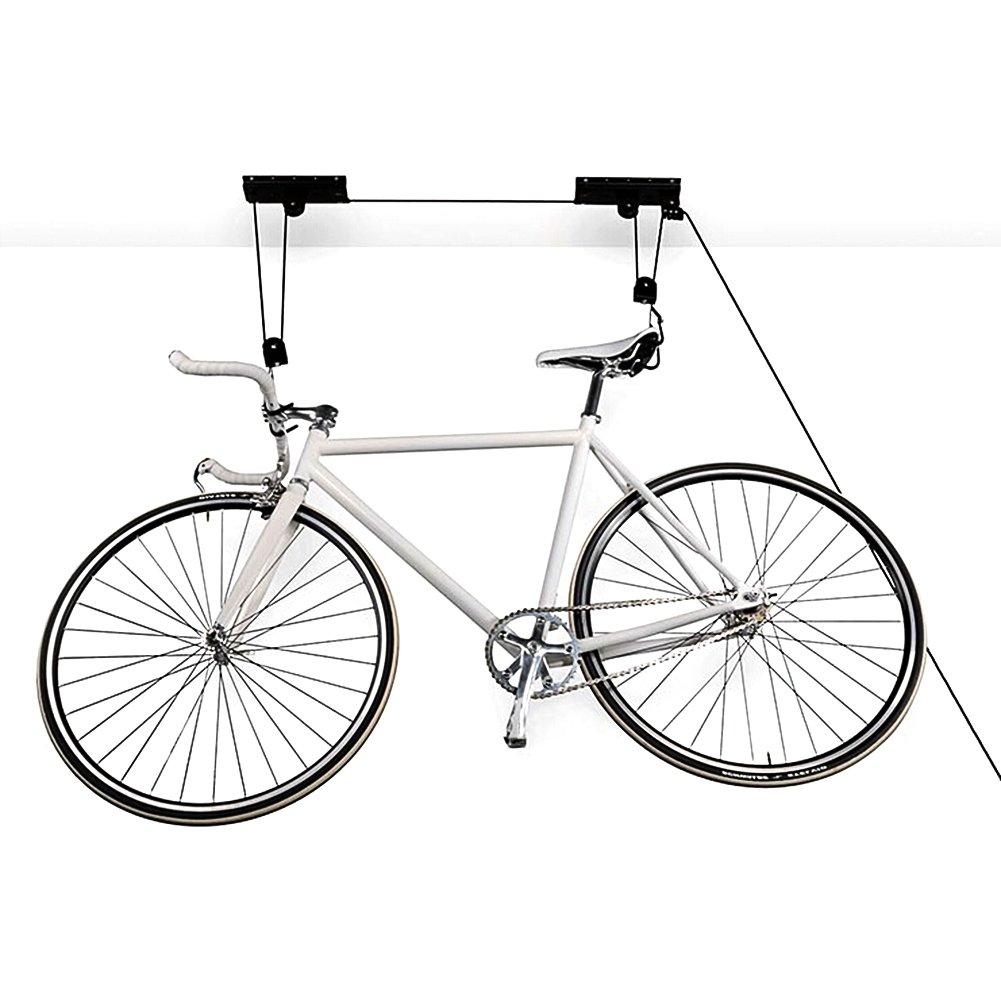 MVPower Ceiling-Mounted Bike Lift Hoist Garage Mountain Bicycle Hoist 45LB Capacity(2-Pack)
