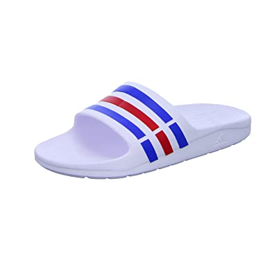 fbab22bd1096 adidas Duramo Slide M - U43664 - Color White-Red-Blue - Size  9.5 ...