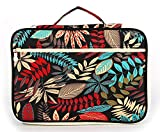 Tropical Multicolored Leaves Print Multifunctional A4 File Storage Bag Portable iPad Computer Bag Office Information File Bag