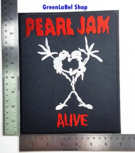 Big Large Jumbo Pearl Jam Alive Music Band Punk Rock Heavy Metal Rock Music Band Patch Logo Sew Iron on Embroidered Appliques Badge Sign Costume Send Free Registration