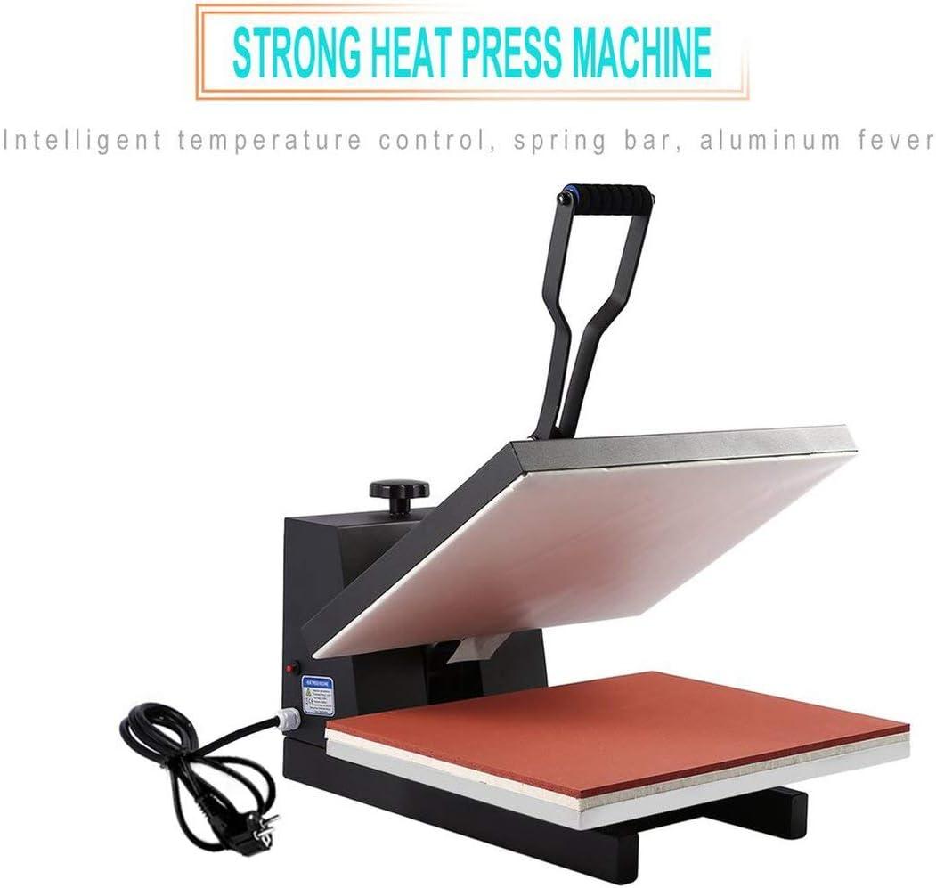 Funnyrunstore 40 x 50 cm Máquina de prensa de calor plano de alta ...