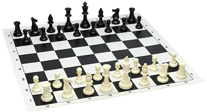 Abee Folding Chess Mat Game Set with Light Weight Coins (Multicolor, 12 Inches)