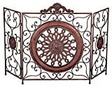 "Best Benzara Fireplaces - Benzara 79 21871 Metal Fire Screen, 35"" H/55"" Review"
