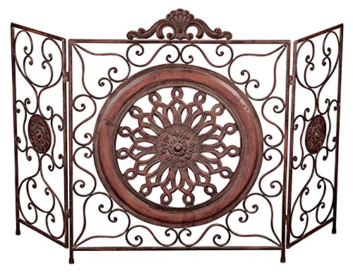 Deco 79 21871 Metal Fire Screen, 35