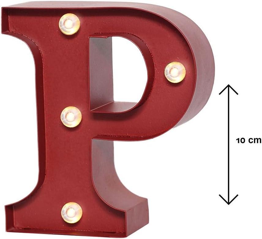 MONTEMAGGI Lettera Luminosa in Metallo Lettera P Variante unica