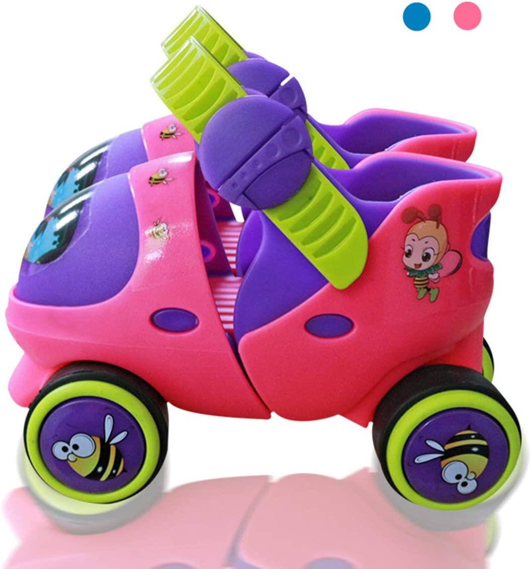 Mpoutik Kid s Children s Adjustable Speed Quad Roller Skates Shoes with Safe Lock Mode for Beginners