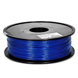Inland 1.75mm Blue PLA PRO (PLA+) 3D Printer Filament 1KG Spool (2.2lbs), Blue