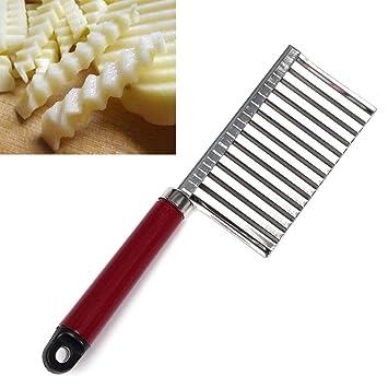 Gorkuor Cuchillo de Patata Vegetal Cuchillo Ondulado ...